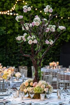 Flowering trees for enchanted garden pref. Photography by mayamyers.com YES AND ADD CANDLES??