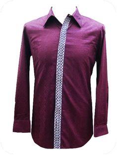 camisa masculina, tejido bazin algodón, bordado en tapeta, botones nacar WWW.OUASSAK.COM