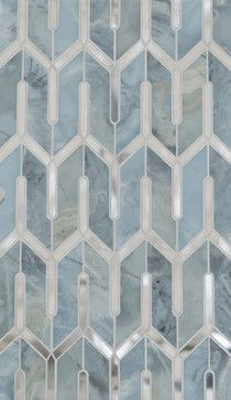 Marble Floor mosaic pattern could translate into quilt pattern -- (Chicago Petite Water Jet Mosaic by Mosaïque Surface)