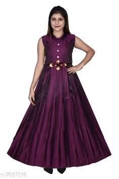 Frocks & Dresses High Fame Girls Purple Wine Maxi Party Wear Gown Dress Fabric: Silk Blend Sleeve Length: Sleeveless Pattern: Solid Multipack: Single Sizes: 12-13 Years (Bust Size: 33 in Length Size: 45 in)  13-14 Years (Bust Size: 34 in Length Size: 47 in)  11-12 Years (Bust Size: 32 in Length Size: 42 in) Country of Origin: India Sizes Available: 11-12 Years, 12-13 Years, 13-14 Years   Catalog Rating: ★4.1 (478)  Catalog Name: Modern Classy Girls Frocks & Dresses CatalogID_1241922 C62-SC1141 Code: 017-7651316-0052