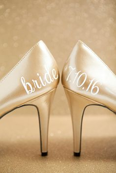 967e12d19e6 Learn how to make custom wedding shoe stickers using the  Cricut Explore!  Diy Wedding