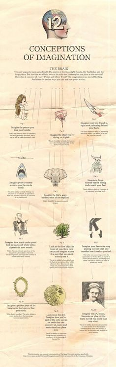Infographic: 12 Conceptions of Imagination #infographic