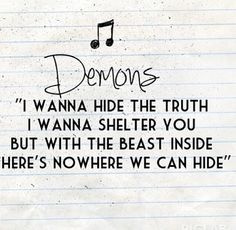 Demons | Imagine Dragons <3
