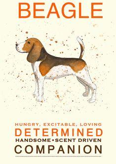 Personalised Customised Custom Beagle Dog by MichelleCStudio