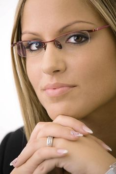semi-rimless glasses women