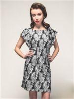 Ruffle Sleeve Fan Dancers Dress by Smak Parlour