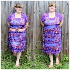 VIOLET TIE DYE TANK DRESS #GwynnieBee #ShareMeGB