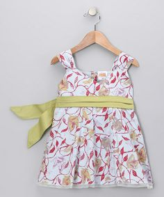 Take a look at this Gray & Red Leaves Bow Surplice Dress - Infant, Toddler & Girls by Rim Zim Kids on #zulily today!