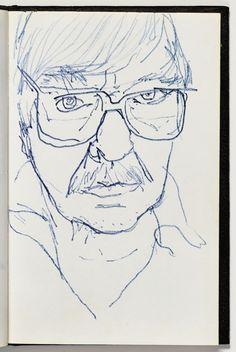 Richard Diebenkorn : self portrait kasvot Richard Diebenkorn, Robert Motherwell, Gesture Drawing, Life Drawing, Camille Pissarro, Joan Mitchell, Jackson Pollock, Bay Area Figurative Movement, Gerhard Richter