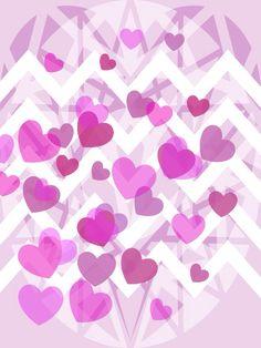 Pink sugar heart iPhone wallpaper