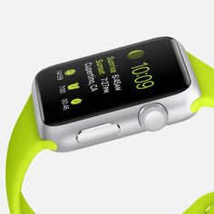 #1: Apple - Apple Watch - Sport | I would love the lime green band!