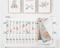 Dream Catcher Crib Bedding Gorgeous Dream Catcher Threepiece Crib Bedding Set  Carousel Designs  Baby Design Inspiration