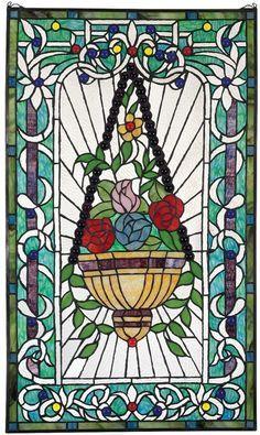 Design Toscano Le Fenetre des Fleurs Stained Glass Window