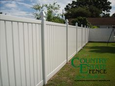 Vinyl Fencing - Country Estate Fence of The South - Vinyl & Aluminum Fencing Vinyl Privacy Fence, Privacy Fences, Vinyl Fencing, Horse Fencing, Aluminum Fence, Horizontal Fence, Backyard Fences, Country Estate, Fence Design