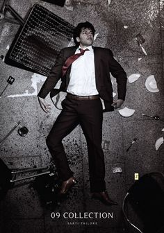 "Love this Sarti Tailors campaign from 2009 called ""Clothes you'd love to be caught in dead""."