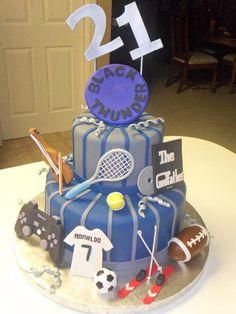 Extreme Frisbee tennis violin dvd The Godfather football ski soccer Play Station birthday blue man cake