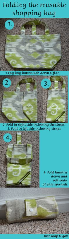 Going Green with the Grizls: Reusable Shopping Bag Tutorial