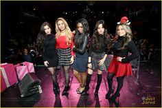 Fifth Harmony Hit Up Z100's Jingle Ball After Candie's Winter Bash Concert - See All The Pics!: Photo #905207. Fifth Harmony raise their arms for a group bow after performing at Z100's Jingle Ball 2015 held at Madison Square Garden on Friday night (December 11) in New York…