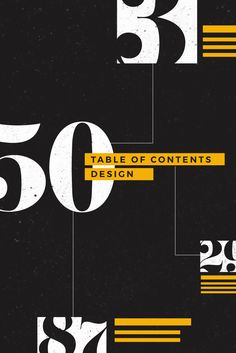 Designing the Perfect Table of Contents: 50 Examples to Show You How Graphic Design Posters, Graphic Design Layouts, Graphic Design Typography, Editorial Layout, Editorial Design, Layout Design, Design Design, Print Design, Design Ideas