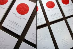 hand embossed, offset printed on matte cardstock.