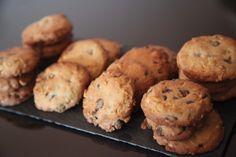 Cookies crujientes de chocolate y avellana.