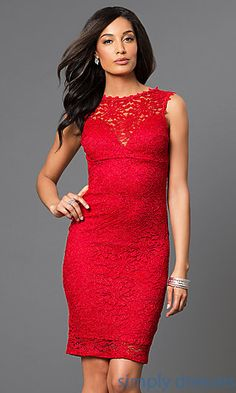 Shop Simply Dresses for lace cocktail dresses under $100. Look sexy at holiday and New Year parties in an open back party dress.