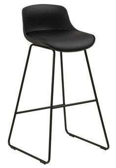 Stołek barowy Tina Black PU   Udekoruj Dom Bar Stools, Chair, Design, Furniture, Nordic Interior, Black, Home Decor, Bistro Chairs, Chair Pads