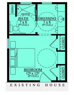 #653681 - Wheelchair Accessible Mother in Law Bedroom Suite Addition : House Plans, Floor Plans, Home Plans, Plan It at HousePlanIt.com Bedroom Addition Plans, Master Bedroom Plans, Master Bedroom Addition, Master Bedroom Layout, Master Bedroom Bathroom, Master Suite Floor Plan, Bathroom Closet, Bathroom Layout, Modern Bathroom