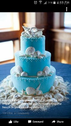This is my wedding cake if I get married at the beach.