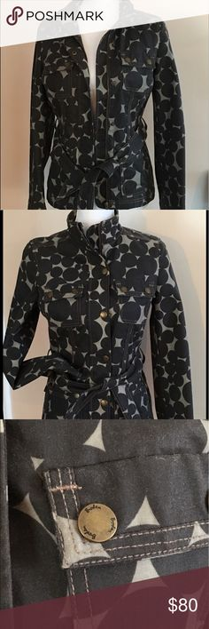 Boden  waxed cotton stunning jacket  Brown and tan very slimming.  No smoking  / no pet household. Boden Jackets & Coats