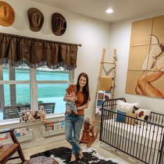 It's almost time for spring cleaning. While you're at it, why not redecorate a little? Velvet Brumby's home is the perfect place to go for some cozy. Cowgirl Nursery, Western Nursery, Western Bedroom Decor, Cowgirl Bedroom, Vintage Cowboy Nursery, Cowboy Room, Western Theme, Western Kids Rooms, Western Babies