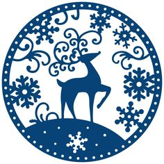 Tattered Lace Snowglobe Reindeer Toppers Die