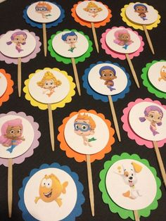 Items similar to Bubble Guppies Cupcake Toppers on Etsy Bubble Guppies Cupcakes, Bubble Guppies Birthday, 3rd Birthday, Birthday Ideas, Birthday Parties, Cupcake Toppers, Bubbles, Party Ideas, Etsy