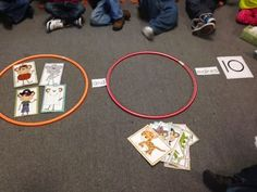 Chalk Talk: A Kindergarten Blog hoola hoops and pictures to teach addition/subtraction