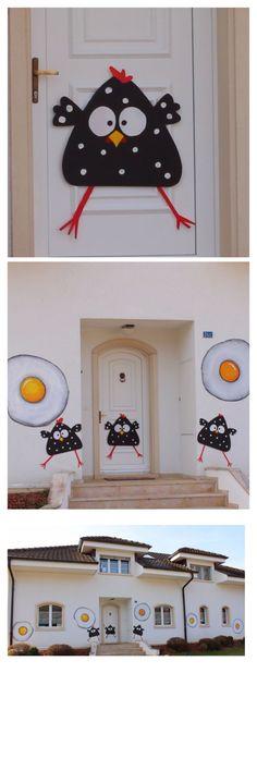 Décoration Pâques, toute en récup, made by www.toutpetitrien.ch et www.pinterest.com/fleurysylvie #paques #decoration