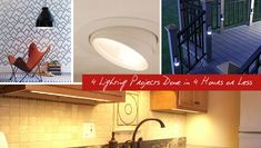 If you're new to the world of DIY, or just don't trust yourself around live wires and power tools, here are 4 easy lighting projects you can do in 1 hour! Led Decorative Lights, Laundry Room Storage, Light Project, Light Decorations, Home Renovation, Repurposed, Diy Home Decor, New Homes, Lighting