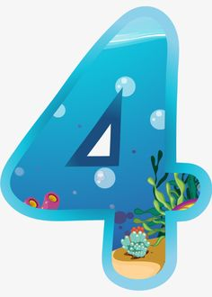 The number of blue 4 PNG and Clipart Birthday Countdown, Birthday Cards, Happy Birthday, Blue Nose Friends, Under The Sea Theme, Class Decoration, Baby Shark, Moana, Father's Day