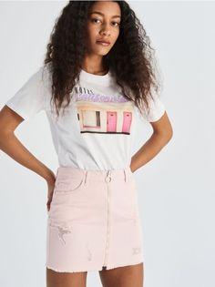 Fuste Sinsay de damă. Sport sau elegante, tu alegi. Waist Skirt, High Waisted Skirt, Sport, Spring, Casual, Fashion, Tulle, Tricot, High Waist Skirt