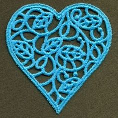 FSL Filigree Heart 5 - 4x4 | FSL - Freestanding Lace | Machine Embroidery Designs | SWAKembroidery.com Ace Points Embroidery