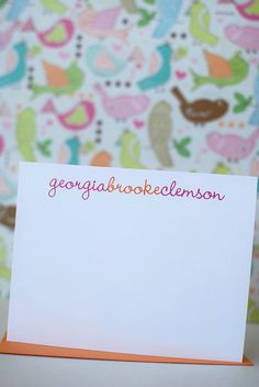 Personalized Note Cards - Choose colors, fonts and text - anna and blue paperie.