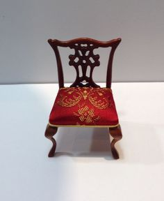 Artisan Made Chippendale Side Chair marked Trail Hill 1979