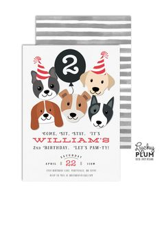 Hey, I found this really awesome Etsy listing at https://www.etsy.com/listing/503082212/puppy-party-invitation-dog-birthday