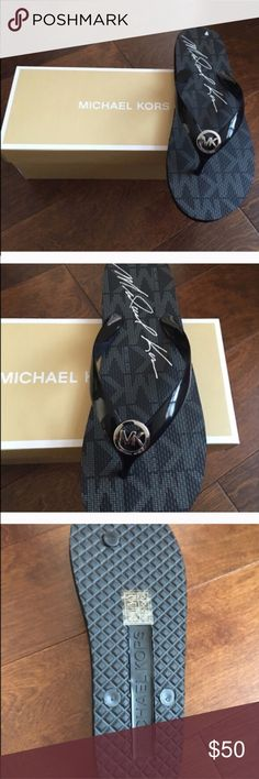 ❗️sale❗️Michael kors flip flops Brand new authentic flip flops without box. If u would like any other size in these I can try & get them for u MICHAEL Michael Kors Shoes Slippers