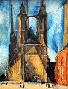 Lyonel Feininger - Marktkirche von Halle, 1930 at Pinakothek der Moderne Munich Germany by mbell1975, via Flickr