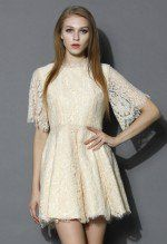 Keep You Grace Floral Full Lace Dress