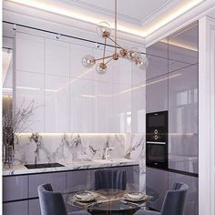 20 inspiring kitchen cabinet colors and ideas that will blow you away purple black marble modern kitchen small smart space condo apartment design ideas shop room ideas lilac cabinets color cupboards - High Quality Marble Kitchens Flat Design, Design Plat, Küchen Design, Home Design, Condo Design, Design Styles, Decor Styles, Design Trends, Beige Kitchen Cabinets