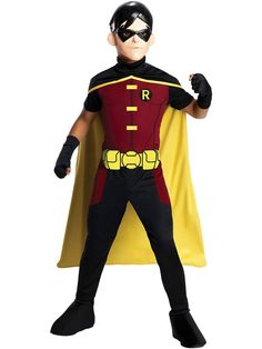 [Batman Birthday Party] Rubie's Costume Young Justice Robin Child Costume, Large *** More info could be found at the image url. (This is an affiliate link) Batman Costume For Boys, Robin Halloween Costume, Batman And Robin Costumes, Halloween Costumes For Kids, Halloween Ideas, Happy Halloween, Young Justice Robin, Dress Up Costumes, Boy Costumes
