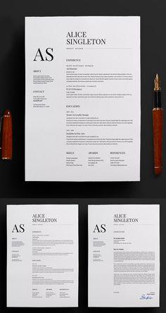 Minimalist CV Resume Template Resume design creative