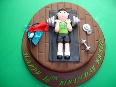 Weightlifting_inspiration http://www.itsalwayssomeonesbirthday.com/2012/08/30th-birthday-gym-cake.html