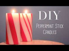 DIY Peppermint Stick Candle